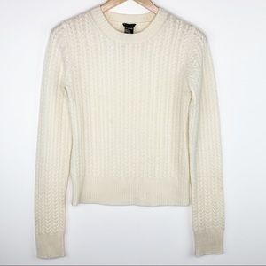 Theory Horseshoe Cable Knit Cashmere Sweater